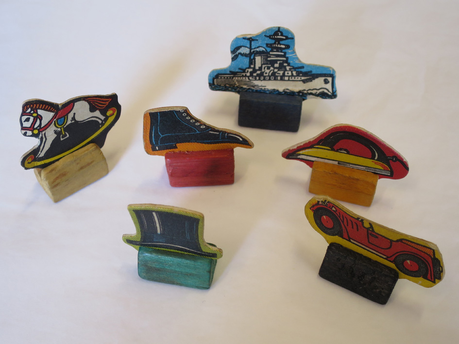 Monopoly pieces cardboard